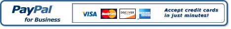 Регистрация в PayPal и започнете приема плащания с кредитни карти мигновено.